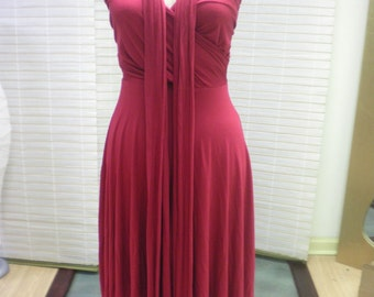 Infinity Convertable Dress Red
