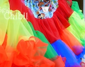 Reserved for Sarah Haag. rainbow punky pirate pettiskirt.  ready to ship.
