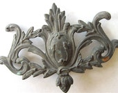 Ornate Cast Brass Pediment