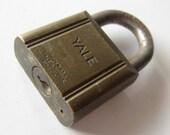 Vintage Brass  Yale Padlock