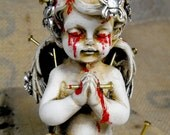 Massacred Angel: altered art project. Mixing Heaven with Hell. My most hard work