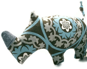 Plush Squeaky Dog Toys - Rhinoceros