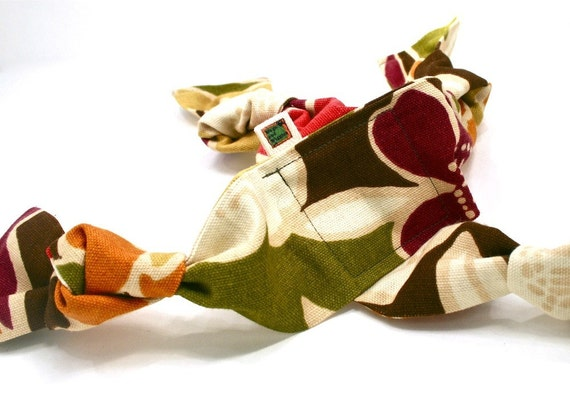 Handmade Tug Dog Toy - Floral
