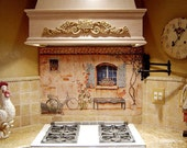 items similar to french country kitchen backsplash tile