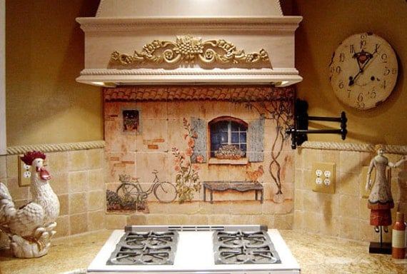 Items Similar To French Country Kitchen Backsplash Tile Mural On Etsy