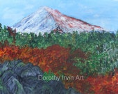 Mount Hood in the Oregon Cascades in Autumn Original Painting