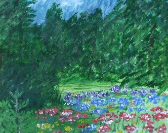Colorful Field Flowers in the Grand Tetons Signed ACEO Art Print