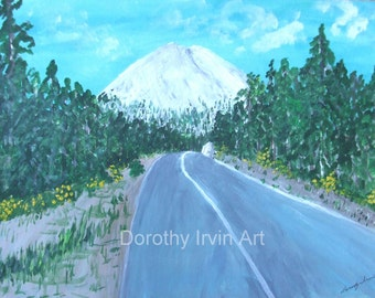 Century Drive on the Way to Mt Bachelor, near Bend, Oregon Original Painting