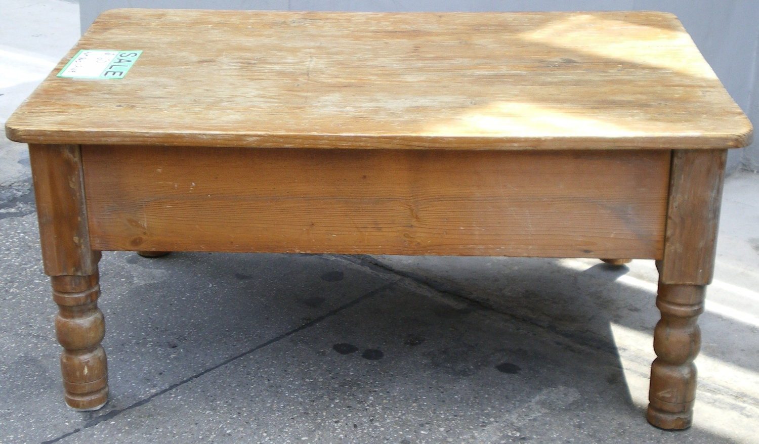 Pine small antique coffee table