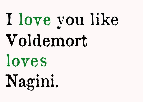 Voldemort Loves Nagini Postcard