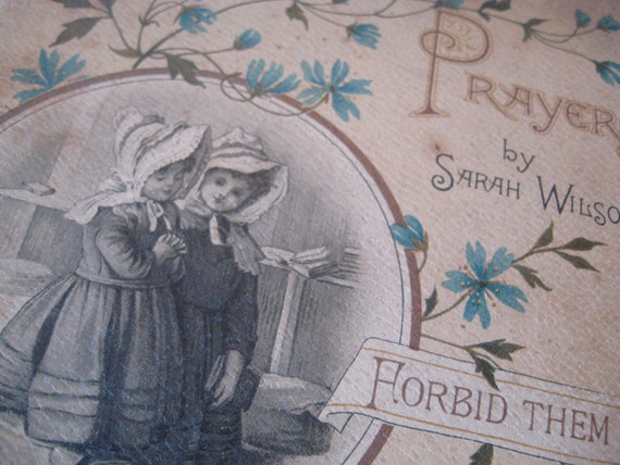 Children's Prayers By Sarah Wilson c 1908