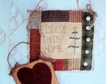 Pattern for Bless This Home Mini Quilt and I Love Dolls Mini Quilt