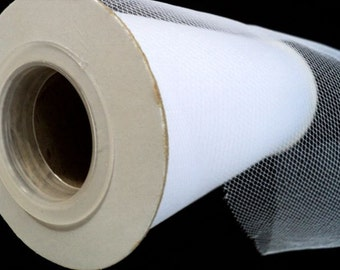"""Roll of White Tulle - 6"""" x 25 yards"""