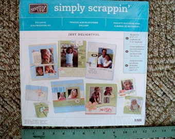 Stampin' Up - Simply Scrappin' - Exclusive Scrapbooking Kit - Just Delightful