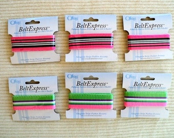 Offray Belt Express - Fabulous Fashion Ribbon - Just Add a Buckle - Set of 6