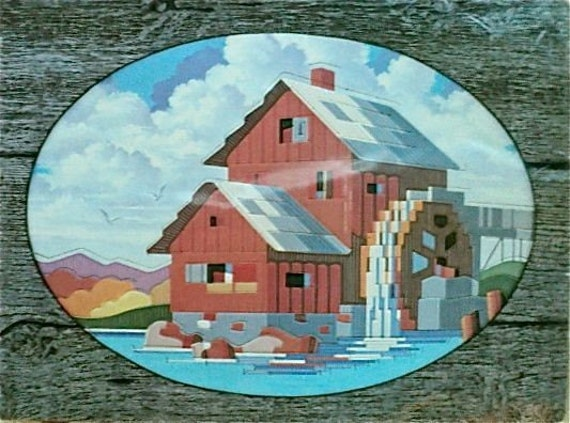 """Vintage - Water Wheel Picture Point Kit - 12"""" x 16"""""""