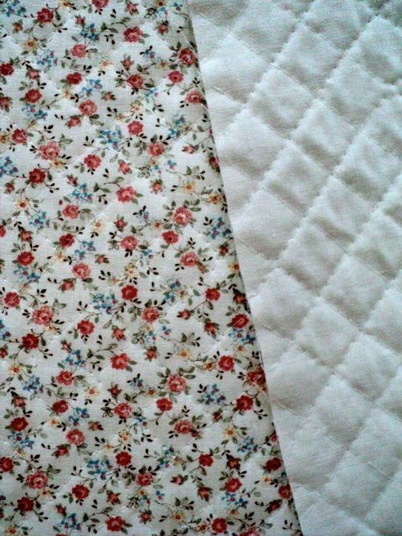 Reserved For Trixie Double Faced Quilted Fabric Pink