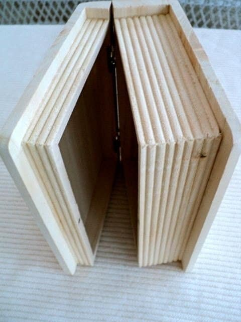 Unfinished Wood Hinged Wood Book Box 5 1 2 By