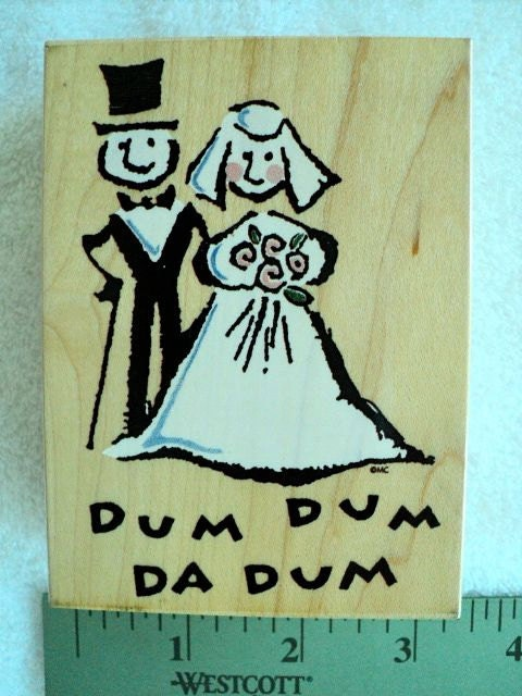Wedding wood mounted rubber stamp 3 x 4 by docksidedesignsetc for Wedding dress rubber stamp