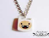 Finn the human or Jake the dog, adventure time necklace