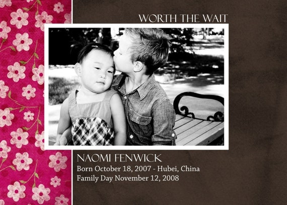 Worth the Wait - Pink Adoption Announcement