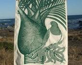 Kereru bird printed tea towel