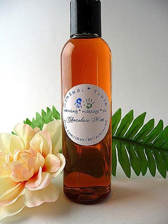 Edible Massage Oil - Chocolate Mint, 4 ounces