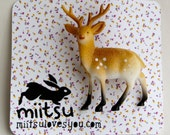 Large kitsch deer fawn pin