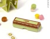 Laduree Macarons, Bag and Box 1/12 Scale Miniature for Dollhouse