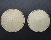 Vintage Pair of Sew On Cabouchons