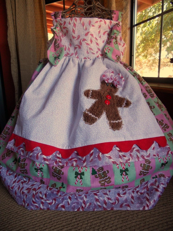 Gingerbread and Candy Canes Holiday Knot Dress - RissaBella