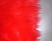 Bright Red Faux Fur Craft Size