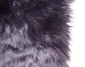 Black Faux Fur Craft Size