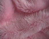 Light Pink Faux Fur Craft Size