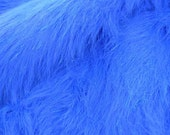 Royal Blue Sparkle with Glitter Strips Faux Fur