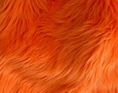 Orange Faux Fur Craft Size