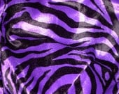 Black and Purple Velboa Zebra Animal Print