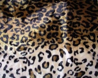 Brown Leopard Animal Print Fat Quarter