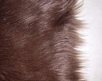 Brown Faux Fur Craft Size