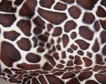 Giraffe Print Velboa Fat Quarter Faux Fur