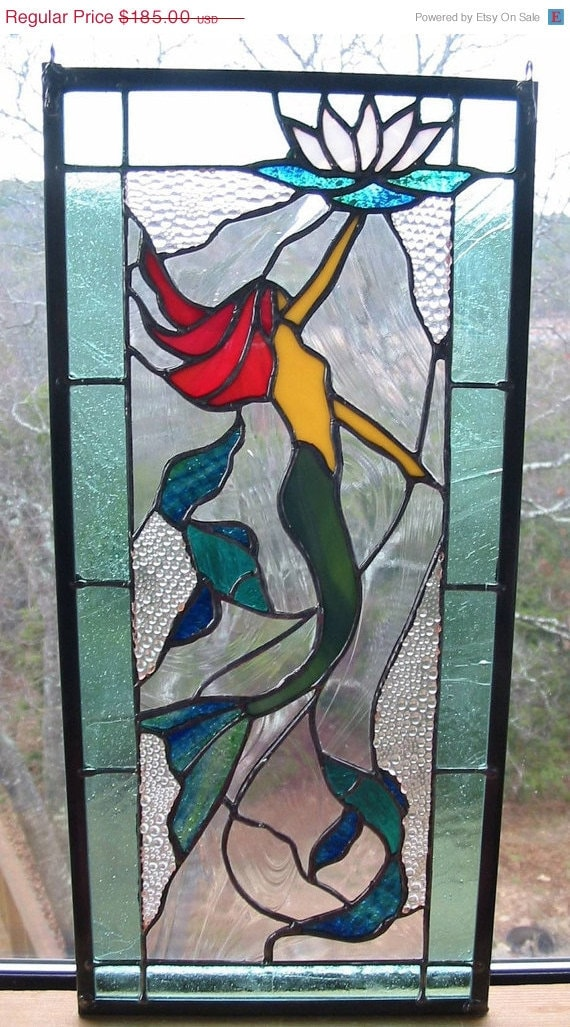 Items Similar To Valentines Day Sale Stained Glass Panel