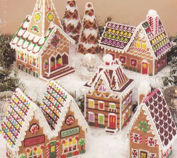 Gingerbread Village Plastic Canvas Pattern Book American School of