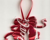 Coca Cola Christmas Bells Ornament- Recycled Can