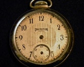 Vintage Antique Pocket Watch Movement In Case Steampunk