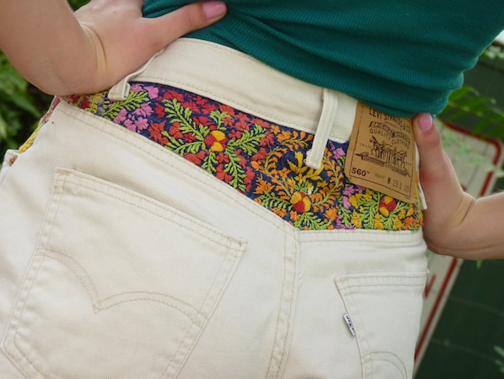 Reserved Vintage Oaxacan Mexcian Dress Patch Festival Shorts