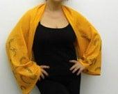 Autumn Colors -Hand painted Knitted fabric   Shrug-Bolero-Shawl  OOAK