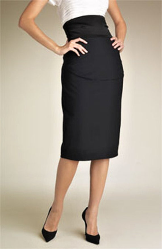pattern of high waist pencil skirt knee ankle or 3 4