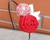 Red Floral Headband