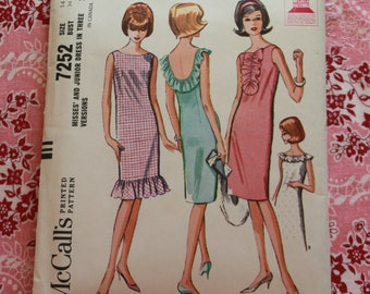 Never Used Adorable Vintage McCall's Pattern 7252 (P113)