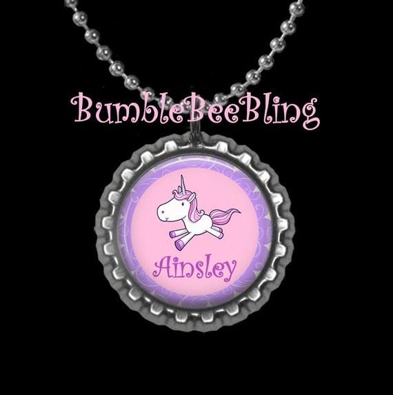 Items Similar To Children's Jewelry Personalized Unicorn